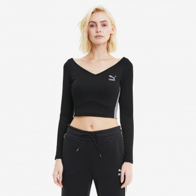 Longsleeve Cropped Top